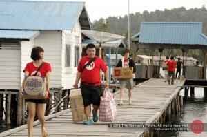 Arriving at Tajur Biru Island