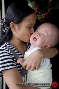 Illyas with his mom