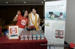 Nita & Cynthia tending THF booth at Bali Usada yearly gathering in Jakarta